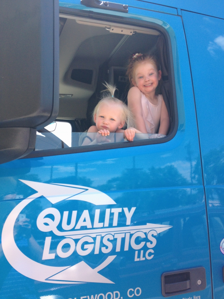 Kids in Quality Logistics Truck