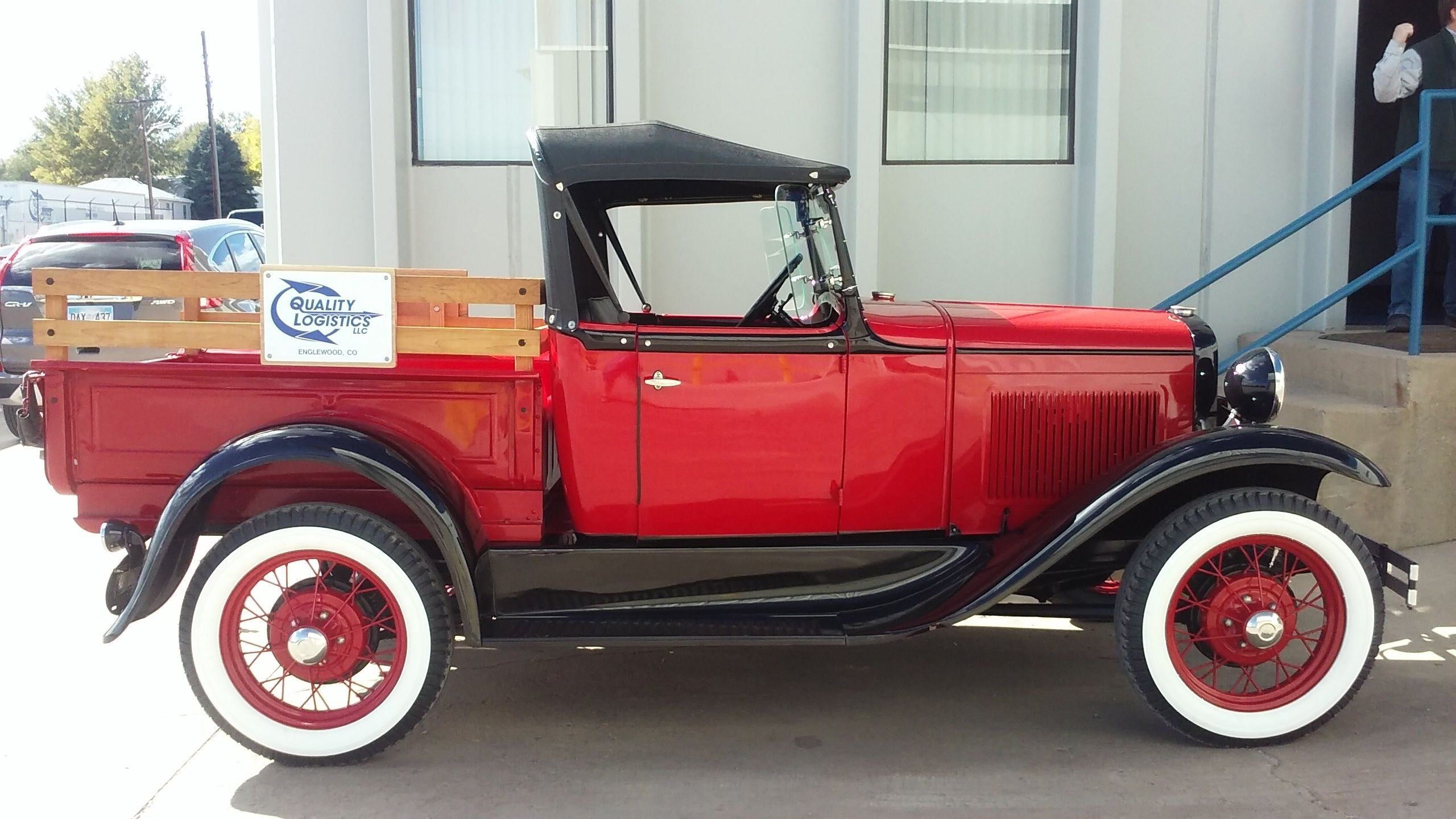 October 2016 winner (Sandi L) - Quality Logistics 1931 Model A parked at our terminal