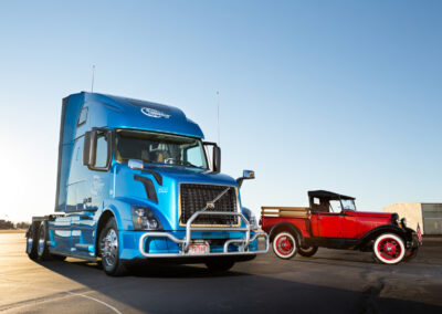 1931 Ford Model A with 2016 Volvo VNL670